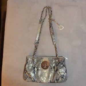 Handbags - DKNY leather snake print bag